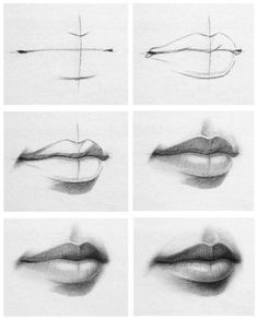 Immagine di lips, art, and drawing