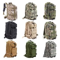 30L//40L Outdoor Camping Hiking Trekking Backpack Military Tactical travel Bag US