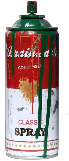 Brainwash : Joseph Gierek Fine Art, a contemporary fine art gallery with established artists in Tulsa, Oklahoma Pantone Green, Pantone Color, Campbell's Soup Cans, Spray Can, Color Of The Year, Fine Art Gallery, Joseph, Pop Art, Random Stuff