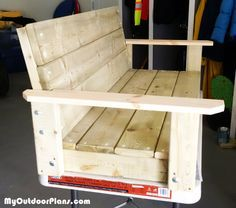 DIY 2x4 Swing | MyOutdoorPlans | Free Woodworking Plans and Projects, DIY Shed, Wooden Playhouse, Pergola, Bbq