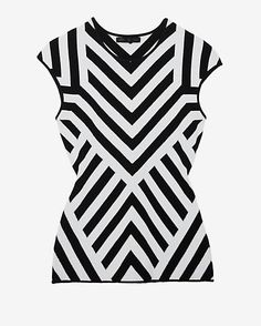 RVN EXCLUSIVE Chevron Pattern Sleeveless Knit