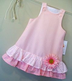 Cotton Candies Stripe Childrens Pink ALine Girls by sugarch This Pin was discovered by Ira Imagem relacionada by melody Frocks For Girls, Kids Frocks, Little Girl Dresses, Girls Dresses, Dresses Dresses, Dance Dresses, Toddler Dress, Toddler Outfits, Kids Outfits