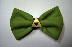 Zelda Hairbow with Gold Triforce by DelightfullyGeeky on Etsy, $7.00