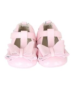 Take a look at the Pink Bow Magic Leather T-Strap Shoe on #zulily today!