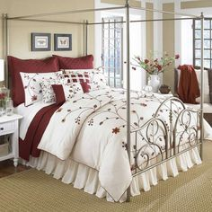Impressive Modern Duvet Covers that Makes Beautiful Look: Outsatnding Modern Duvet Covers Canopy Bed With Brown Theme Completed Brown Carpet Under The Bed And White Side Table Sets ~ SimpleForum Bedroom Inspiration