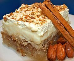 Kataifi recipe with custard and cream Sometimes this is called Kataifi ekmek and is absolutely to die for!!!