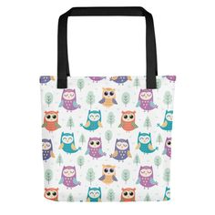 Bring your favorite design everywhere you go. Everywhere You Go, Owls, Your Favorite, Print Patterns, Reusable Tote Bags, Shop, Fabric, Cotton, Design