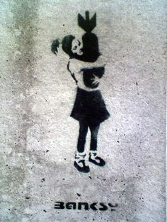 Banksy- my next halloween costume. But, no one would get it.... lol