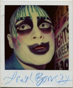 A Polaroid of Leigh Bowery, c. Retrieved from Fused Magazine. Leigh Bowery, Blitz Kids, Youth Culture, Culture Club, New Romantics, Club Kids, Boy George, Monster Party, Human Art