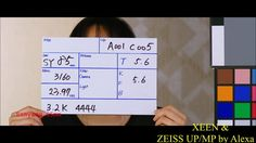 ZEEN vs Zeiss UP/ MP TEST on ALEXA   Thanks to C.J. LEE (C.G.K.) & E.J. LEE & FAMPLAN