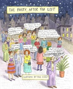 Cartoon by Roz Chast: The Party, After You Left (2004)