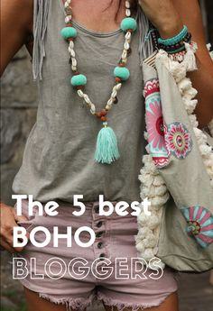 Get inspired by these 5 beautiful BOHO bloggers. Their unique hippie chic style brings out your inner hippie spirit.#boho #bohochic #fashion #hippiestyle #bloggers
