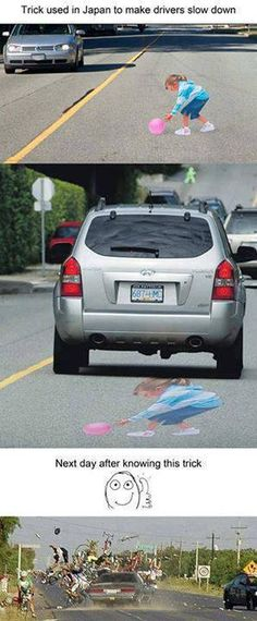 Funny Trick Used in Japan To Slow Down Vehicles :D ~ Time For Laughing