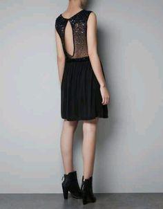 Zara sequinned back dress