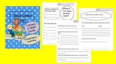 Book Order Fun- Want to do more than just hand out book orders.  These are worksheets that students use with book orders.