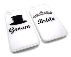 Bride and Groom Set of 2 Friendship Forever Snap-On Covers w/ Hard Carrying Cases for iPhone 4/4S (White) by Zinga, http://www.amazon.com/dp/B00CQ8IK24/ref=cm_sw_r_pi_dp_xOWFsb0YA11VV