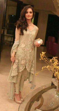 Sizzling fancy dresses with cigarette pants for women latest asian fashion engagement dresses designs collection for wedding brides Pakistani Couture, Pakistani Bridal, Pakistani Outfits, Indian Outfits, Indian Attire, Indian Wear, Engagement Dresses, Pakistan Fashion, Indian Designer Wear