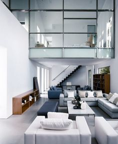Modern, clean, polished cement floors (?)