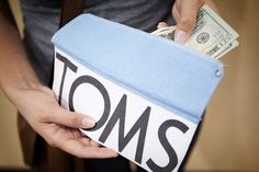 TOMS flag wallet....i could totally make this myself