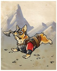Corgi Warrior 8x10 Print · Ainsley Yeager · Online Store Powered by Storenvy