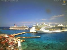 Cruceros en #Cozumel #QuintanaRoo Webcams de México Cruises in #Cozumel #QuintanaRoo  Tour By Mexico - Google+