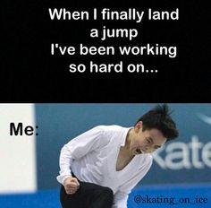 Yessssssss! Ice Skating Quotes, Figure Skating Quotes, Figure Skating Jumps, Roller Blading, Ice Skaters, Ice Dance, Sport Quotes, Skating Dresses, No One Loves Me