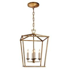 Check out this item at One Kings Lane! Darlana Small Lantern, Gilded Iron