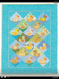 Cute baby quilt.