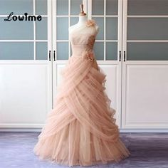Sexy Long Pink Tulle Formal Evening Party Dress Floral Turkish Engagement  Evening Gowns Dresses Lebanon Saree 88f791168f05