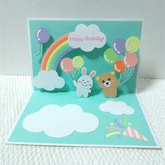 Preschool Crafts, Pop Up, Happy Birthday, Cards, Craft, Happy Brithday, Popup, Urari La Multi Ani, Maps