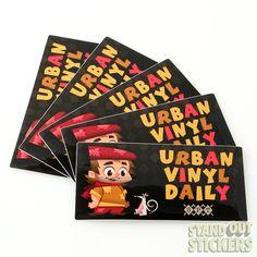 Rectangle Custom Vinyl Stickers