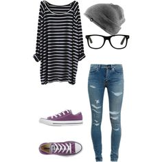 Untitled #44 by vhinvest on Polyvore featuring polyvore fashion style Yves Saint Laurent Converse