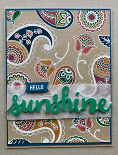 Happy Friday Stampers! We have had such gorgeous weather here it was quite a surprise to wake up to rain. I can't complain though and we ...