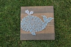 Nursery Whale String Art Home Decor by SassysStrings on Etsy Whale Crafts, String Art, Diy And Crafts, Nursery, Unique Jewelry, Handmade Gifts, Vintage, Etsy, Home Decor