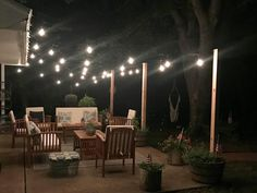 (@emptypocketsfarmhouse) on Instagram: patio lighting, conversation patio sets, farmhouse patio, oasis, Edison patio lighting #wayfairathome