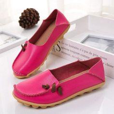 cbec38b8843 Shoes Women Genuine Leather Flat Shoes Women 2018 Autumn Fashion Loafers  Soft Ladies Casual Flat Shoes Woman Moccasins Shoes
