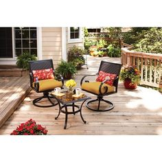 Better Homes and Gardens Englewood Heights 3Piece Outdoor Bistro Set Seats 2 *** Be sure to check out this awesome product.(This is an Amazon affiliate link and I receive a commission for the sales)