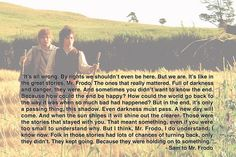 Wisdom from the Shire
