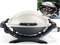 Weber Baby Q-100 Portable Gas Grill by Weber by Weber at Cooking.com #holidaycooking