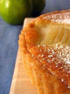 Pear and Almond Frangipane tart - this is quite a time consuming dessert to bake - so make the frangipane and / or pears a day ahead. Pear Recipes, Pastry Recipes, Baking Recipes, Sweet Recipes, French Desserts, Köstliche Desserts, Delicious Desserts, Dessert Recipes, Pear Dessert