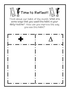 Our school focuses on a different habit every month.  At the end of the month, every teacher selects a student from their class who has exhibited the qualities of this habit.    These pages can be used as a great addition to any Leadership Notebook.  The first two pages are for the teacher.