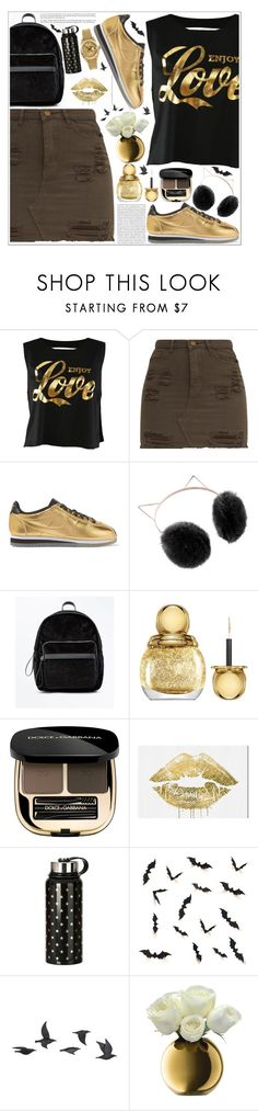 """style"" by lena-volodivchyk ❤ liked on Polyvore featuring NIKE, LC Lauren Conrad, New Look, Christian Dior, Dolce&Gabbana, Oris, Oliver Gal Artist Co., Jayson Home, LSA International and Rolex"