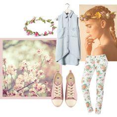 Floral and Denim by DMS member kari