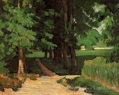 Paul Cezanne's oil painting Chestnut Trees at the Jas de Bouffan