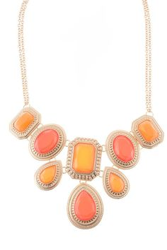 WANT- Coral Jewel Statement Necklace – Modeets