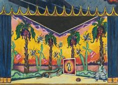 SET DESIGN FOR ACT III OF PETRUSHKA By Alexandre Nikolaïevitch Benois