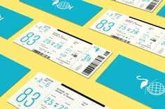 Tropically Yours Tickets by Wedge & Lever | Print Design