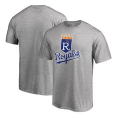 Kansas City Royals Fanatics Branded Big   Tall Cooperstown Collection  Huntington T-Shirt - Ash 71d5c210c