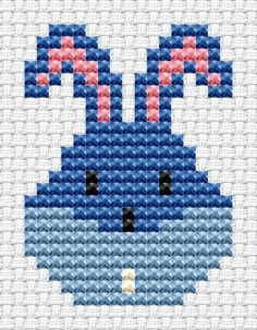 Easy Peasy Bunny Head cross stitch kit [EP-BH] Ideal for beginners however please ensure young stitchers are supervised. Finished size approx 7.2cm x 9.7cm. Kit contains 6ct Binca white aida fabric, stranded embroidery cotton, needle, colour chart and instructions. A brand new kit will be sent directly to you by Fat Cat Cross Stitch - usually within 2-4 working days © Fat Cat Cross Stitch