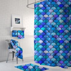 Your place to buy and sell all things handmade Decor, Mermaid Bathroom, Curtains, Printed Shower Curtain, Bathroom Sets, Beach House Bathroom Decor, Bathroom Decor, Shower Curtain, Bathroom Mats